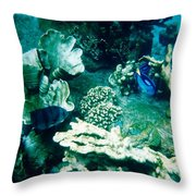 Fish In The Coral Throw Pillow