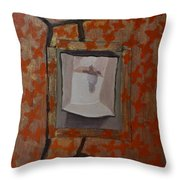 Fish-like Things Turn Into Frogs Into Birds Framed Throw Pillow
