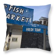 Fish Market In Hobart Throw Pillow