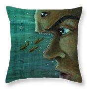Fish Mind Throw Pillow