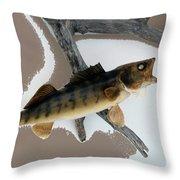 Fish Mount Set 02 C Throw Pillow