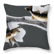 Fish Mount Set 06 B Throw Pillow