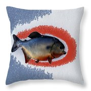 Fish Mount Set 12 B Throw Pillow