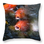 Fish Mouths 2 Throw Pillow
