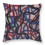 Fish Net Design Throw Pillow