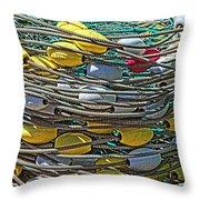 Fish Net Hdr Throw Pillow
