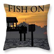 Fish On Work One Throw Pillow