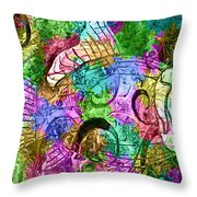 Fish Paisley Throw Pillow