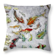 Fish Pond V2					 Throw Pillow
