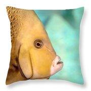 Fish Profile Throw Pillow