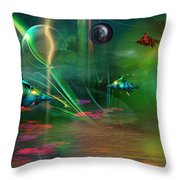 Fish-r-runnin' Throw Pillow