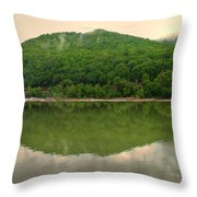 Fish Reflection Where The Kanawha Begins Throw Pillow