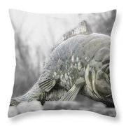 Fish Sculpture Throw Pillow