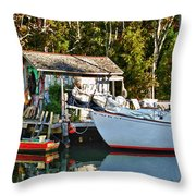 Fish Shack And Invictus Painted Throw Pillow