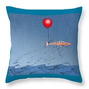 Fish Taking A Refreshing Dip Throw Pillow