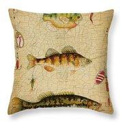 Fish Trio-c-basket Weave Throw Pillow