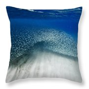 Fish Wave. Throw Pillow by Sean Davey