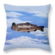 Fish With Bowler Throw Pillow