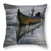 Fishboat Throw Pillow