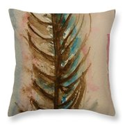 Fishbone Or Feather Throw Pillow