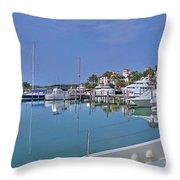 Fisher Island Marina Reflections Miami Fl 2  Throw Pillow