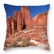 Fisher Towers Amphitheater Throw Pillow