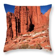 Fisher Towers Portrait Throw Pillow