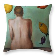 Fisher Woman Throw Pillow