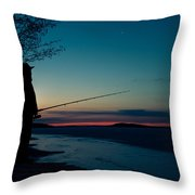 Fisherman And A Star Throw Pillow