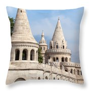 Fisherman Bastion In Budapest Throw Pillow