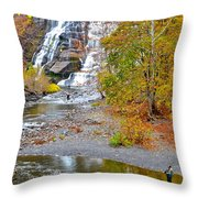 Fisherman One With Nature Throw Pillow