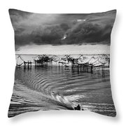 Fisherman Returns Home Throw Pillow