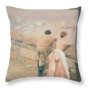 Fisherman St. Ives Throw Pillow by Anders Leonard Zorn
