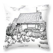 Fisherman's Cove Manasquan Nj Throw Pillow