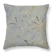 Fishermans Foot Prints Throw Pillow