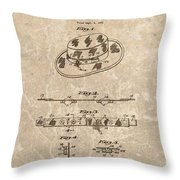 Fisherman's Hat Patent Throw Pillow