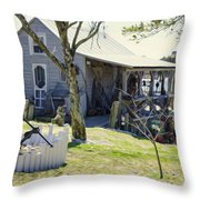 Fisherman's House 3 Throw Pillow