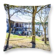 Fisherman's House 4 Throw Pillow