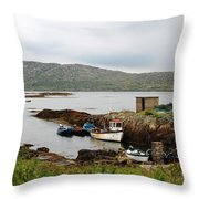 Fishermans Landing Throw Pillow