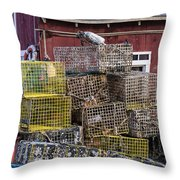 Fisherman's Shack Throw Pillow