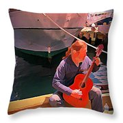Fishermans Song Throw Pillow