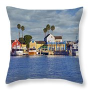 Fisherman's Village Marina Del Rey Ca Throw Pillow