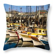 Fishermans Wharf San Francisco Throw Pillow