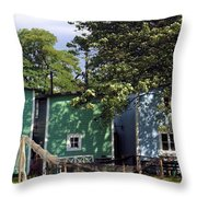 Fishermen Houses  Throw Pillow