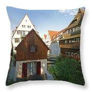 fishermens quarter in Ulm Throw Pillow