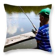 Fishin' Throw Pillow