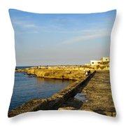 Fishing - Alexandria Egypt Throw Pillow
