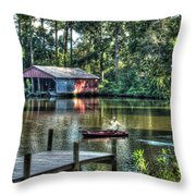 Fishing At Big Daddy's Throw Pillow