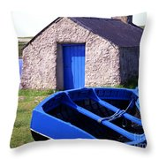 Fishing Blues Throw Pillow