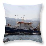 Fishing Boat Apostolos - Samos Throw Pillow